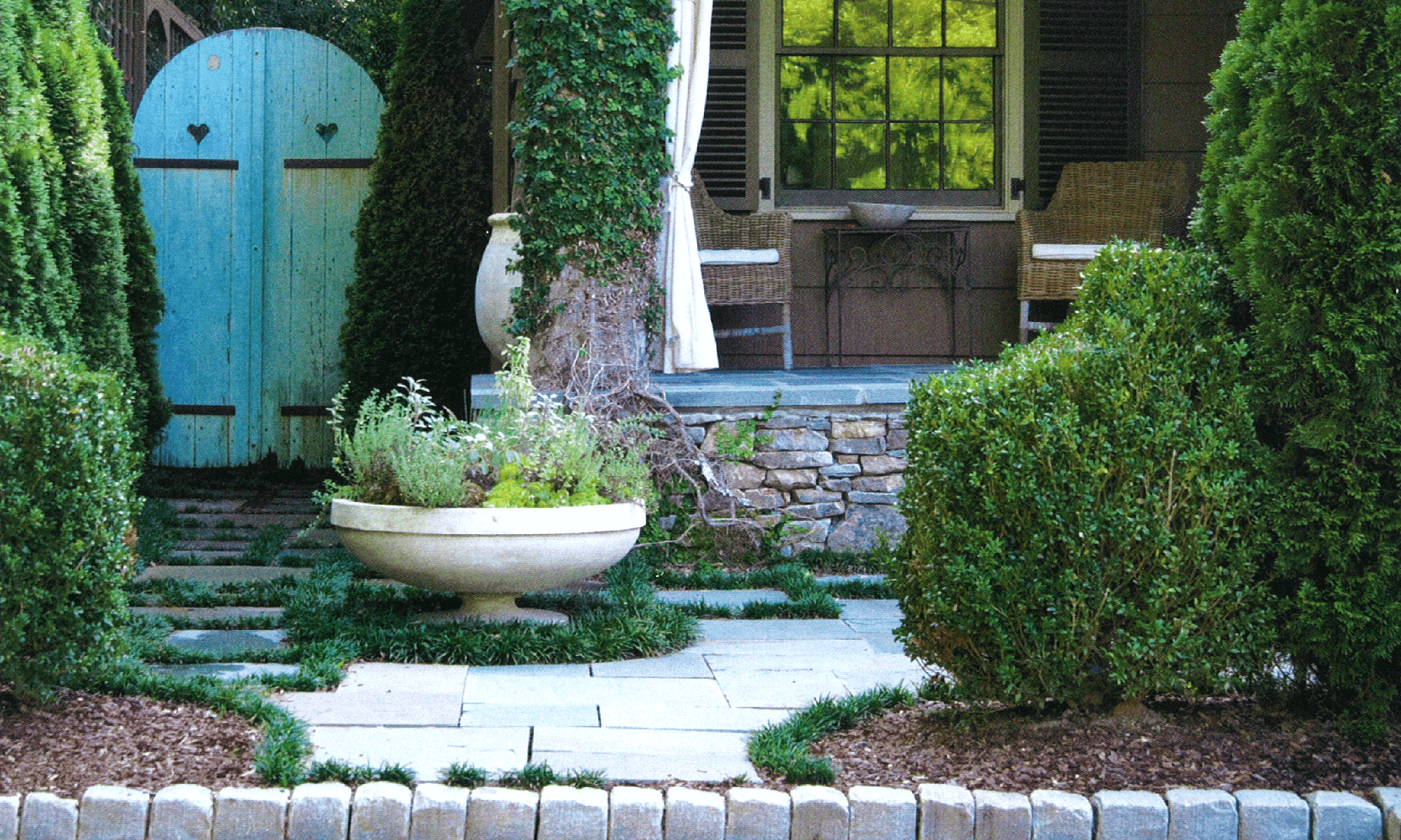 English Cottage Garden - Troy Rhone Landscape Designer