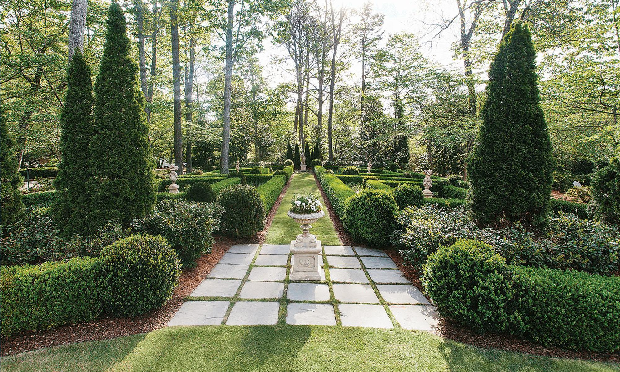 antique urns - garden design
