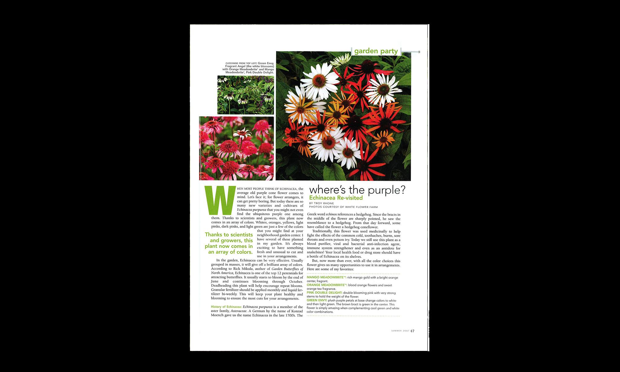 flower design and landscape