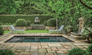 pool deck design - patio design by Troy Rhone Gardens