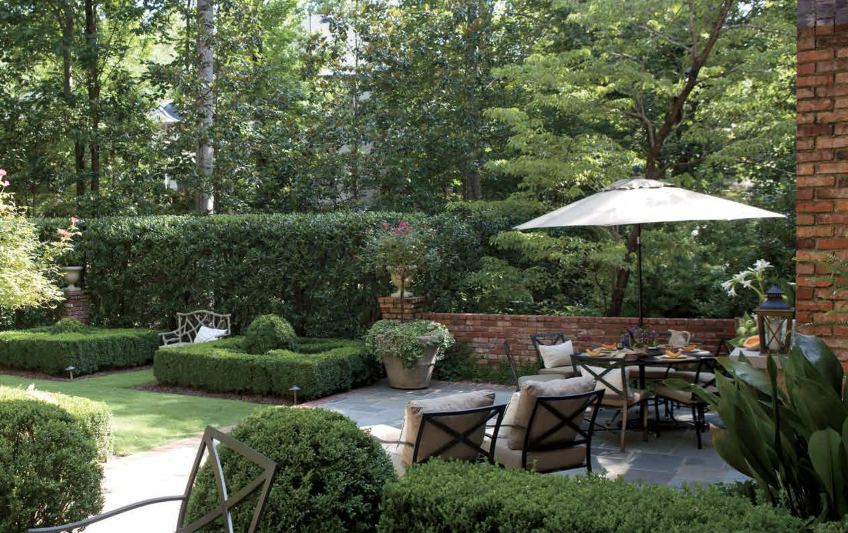 small patios design - garden designer troy rhone